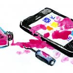 IPhone med nagellack på