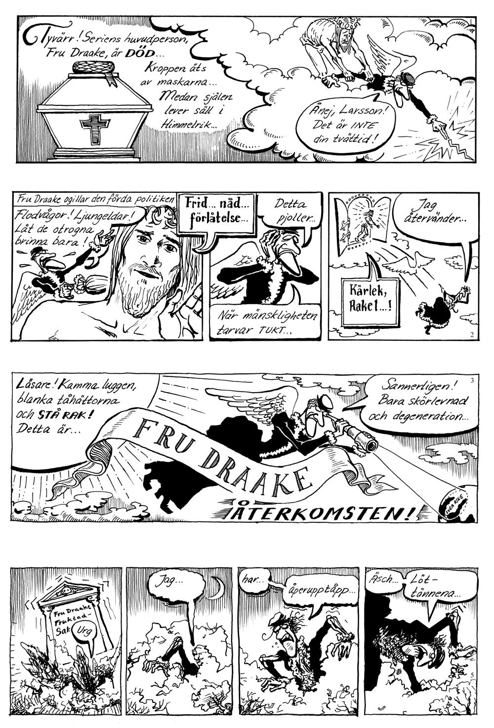 Fru Draakes Norgeäventyr sida 1
