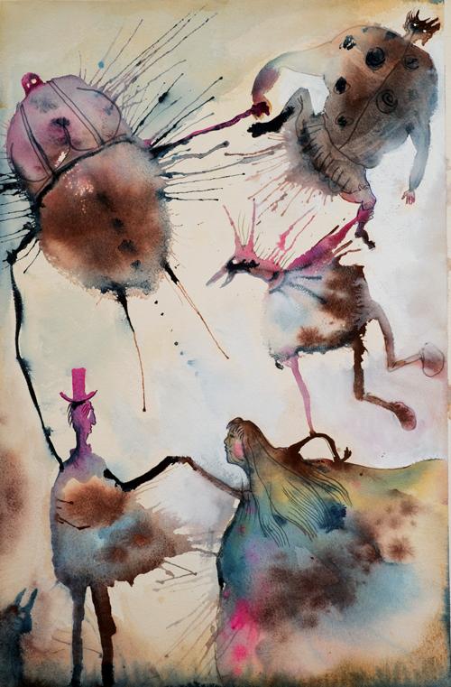 Folkdanslaget, akvarell