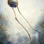 Kurragömma, akvarell, 100*150 cm
