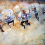 LinkedIn, akvarell, 76*56 cm