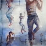 Omloppsbana, akvarell