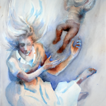 Separation 1, akvarell
