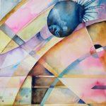 Sigrid och jag, akvarell, 56*76 cm
