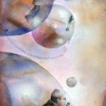 Resenärer, akvarell